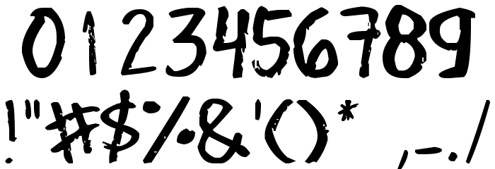 Denne's Old Handwriting Font OTHER CHARS