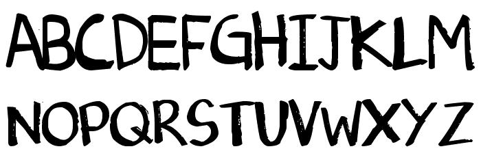 Denne's Old Handwriting Font UPPERCASE