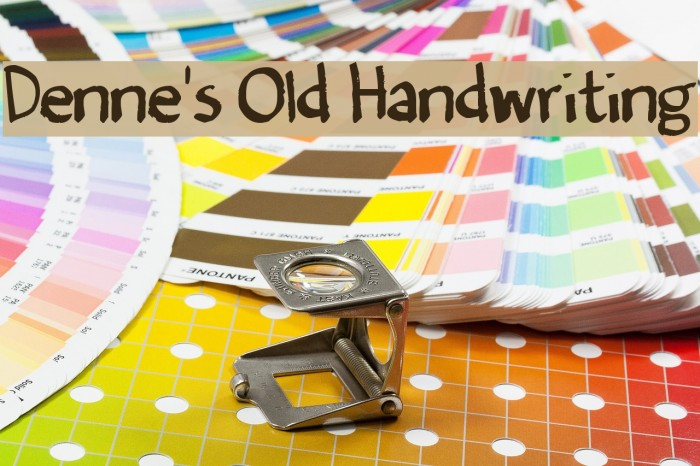Denne's Old Handwriting Font examples