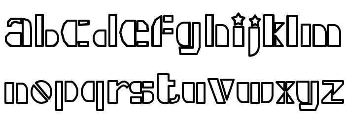 Densmore X Font UPPERCASE