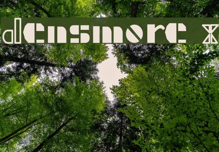 Densmore X Font examples