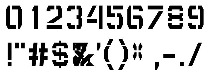 DepotTrapharet Font OTHER CHARS