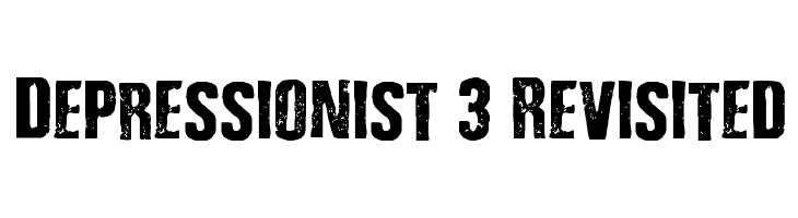 Depressionist 3 Revisited  Скачать бесплатные шрифты
