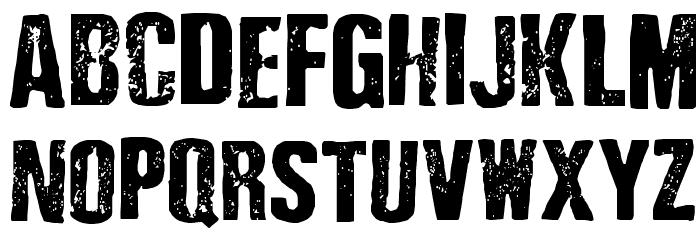 Depressionist 3 Revisited Font UPPERCASE