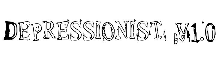 Depressionist v1.0  Скачать бесплатные шрифты