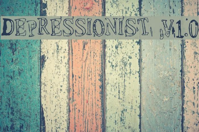 Depressionist v1.0 Font examples