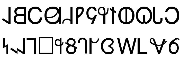 Deseret फ़ॉन्ट अपरकेस