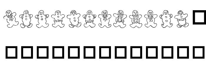 Destiny's Gingerbread Dings Font Litere mari