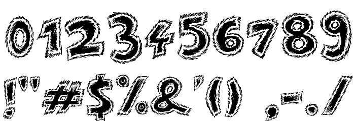 Destroy Font OTHER CHARS