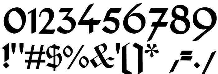 DeutschGotisch Font OTHER CHARS