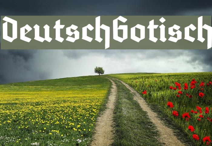 DeutschGotisch Font examples