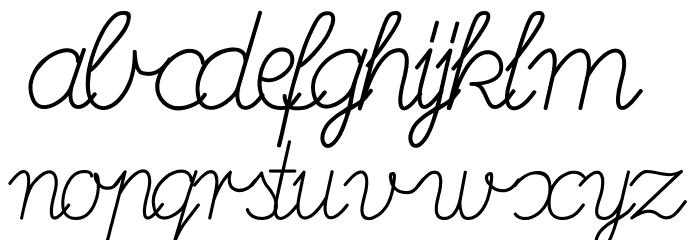 DeutscheNormalschrift-Italic Font LOWERCASE
