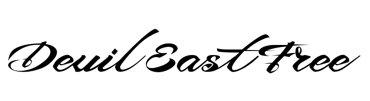 Devil East Free 字体