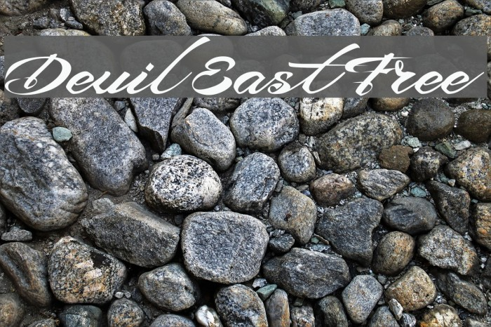 Devil East Free Font examples