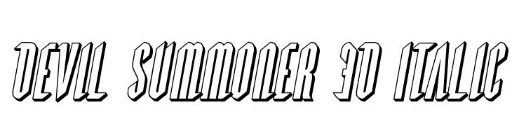 Devil Summoner 3D Italic  Скачать бесплатные шрифты