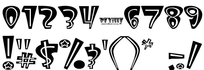 Deville Font OTHER CHARS