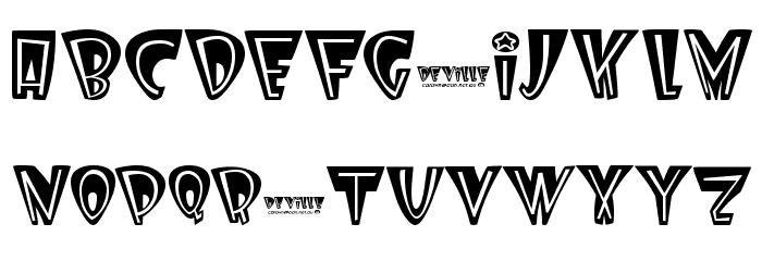 Deville Font UPPERCASE