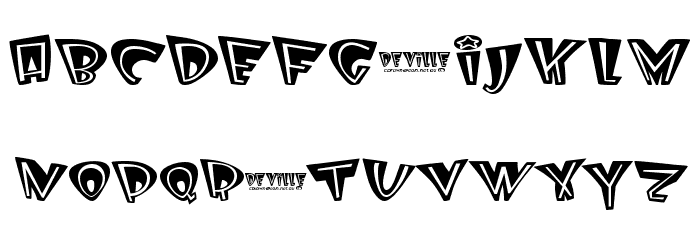 Deville Font LOWERCASE