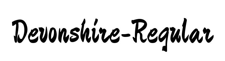 Devonshire-Regular  Descarca Fonturi Gratis