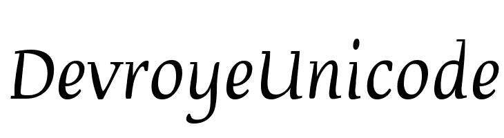 Devroye Unicode Font - free fonts download