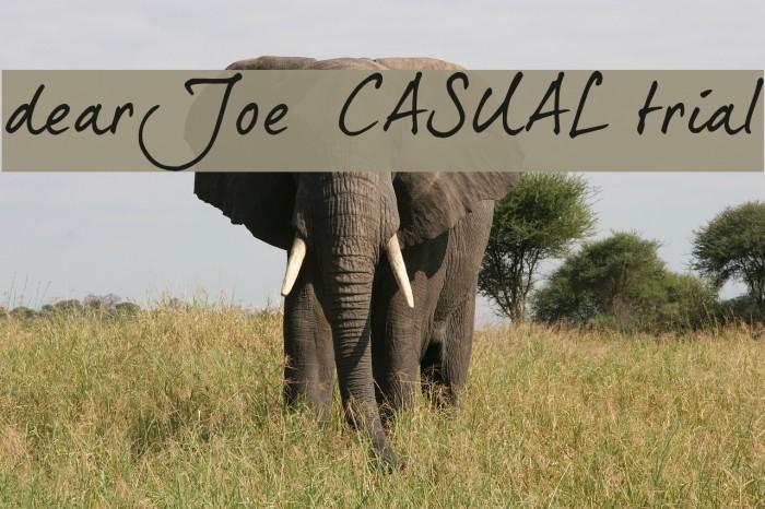 dearJoe 5 CASUAL trial Font examples