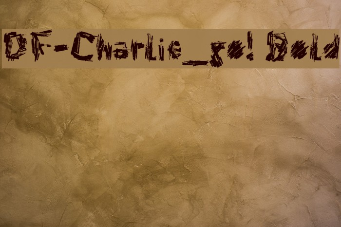 DF-Charlie_go! Bold 字体 examples