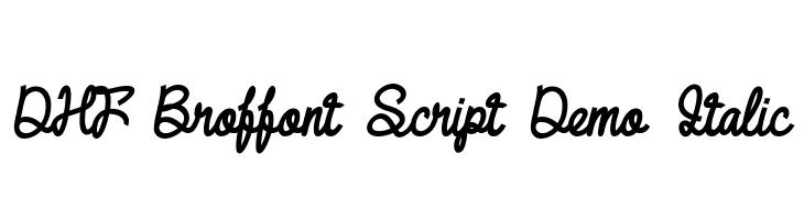 DHF Broffont Script Demo Italic  नि: शुल्क फ़ॉन्ट्स डाउनलोड