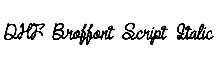 DHF Broffont Script Italic  नि: शुल्क फ़ॉन्ट्स डाउनलोड