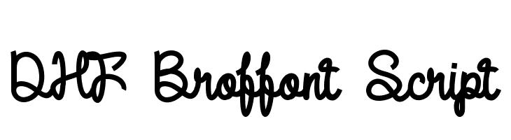 DHF Broffont Script  नि: शुल्क फ़ॉन्ट्स डाउनलोड