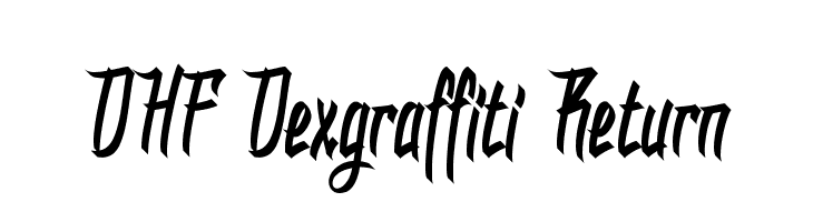 DHF Dexgraffiti Return  नि: शुल्क फ़ॉन्ट्स डाउनलोड