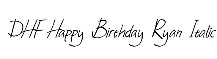 DHF Happy Birthday Ryan Italic  Fuentes Gratis Descargar