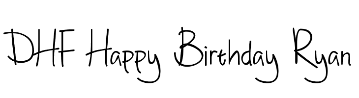 DHF Happy Birthday Ryan  Free Fonts Download