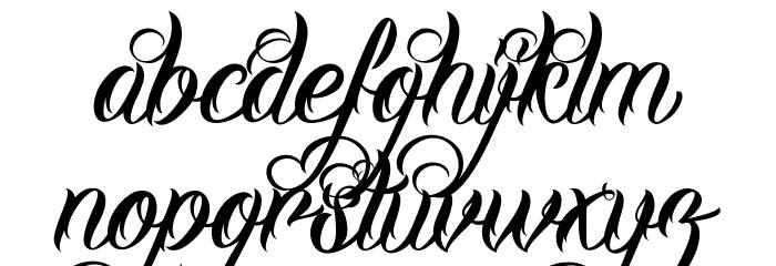 DHF Milestone Script Demo Schriftart Kleinbuchstaben