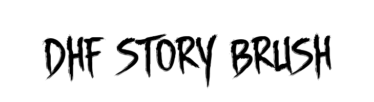 DHF Story Brush Fonte
