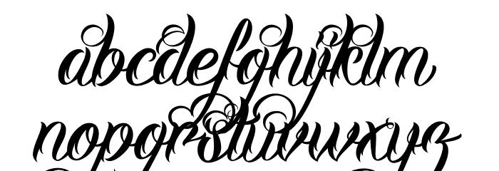 DHFMilestoneScriptDemo Schriftart Kleinbuchstaben