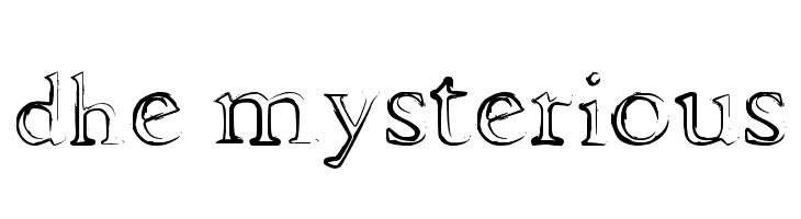 dhe mysterious  Скачать бесплатные шрифты