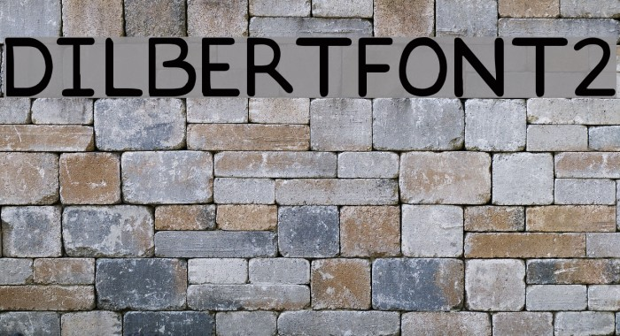 DILBERTFONT2 Font examples