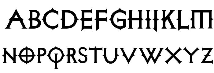 Diabolica フォント 大文字