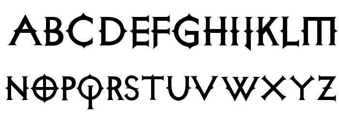 Diabolica フォント 小文字
