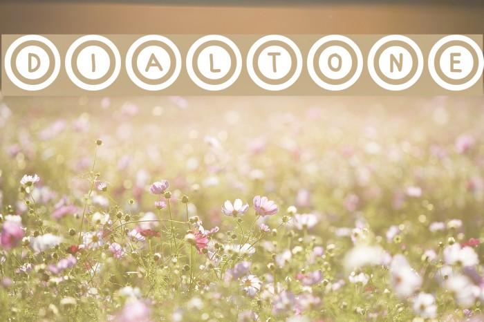 Dialtone Font examples