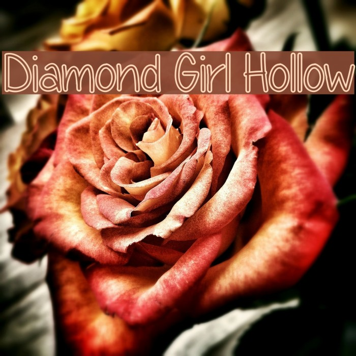 Diamond Girl Hollow फ़ॉन्ट examples