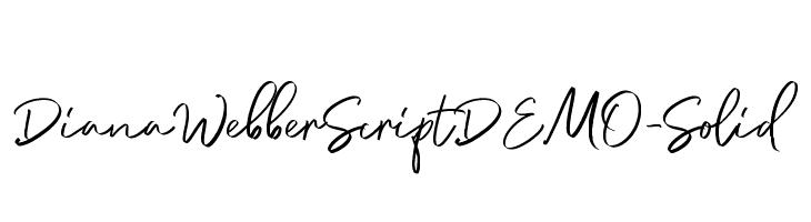 DianaWebberScriptDEMO-Solid  baixar fontes gratis
