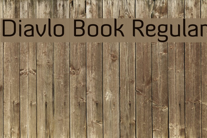 Diavlo Book Regular Fonte examples