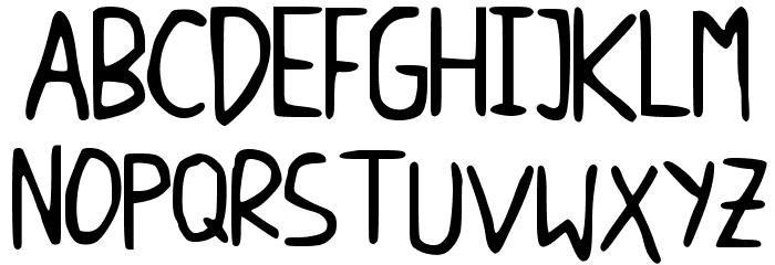 DicisHandwrite Font UPPERCASE