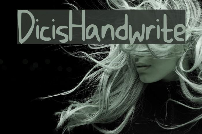 DicisHandwrite Font examples