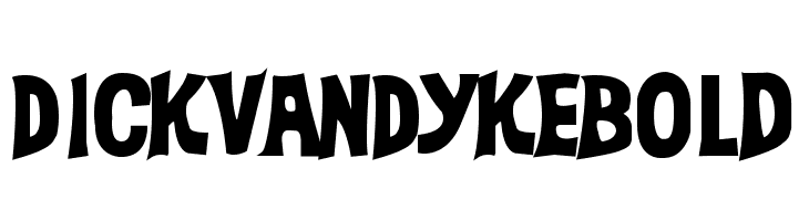 DickVanDykeBold  Free Fonts Download