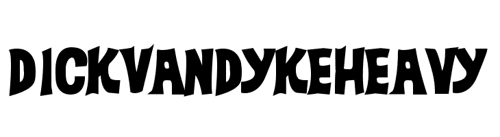 DickVanDykeHeavy  Free Fonts Download