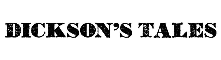 Dickson's Tales  免费字体下载