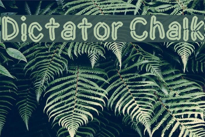 Dictator Chalk لخطوط تنزيل examples