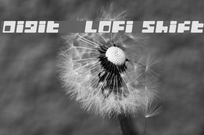 Digit   LoFi Shift फ़ॉन्ट examples